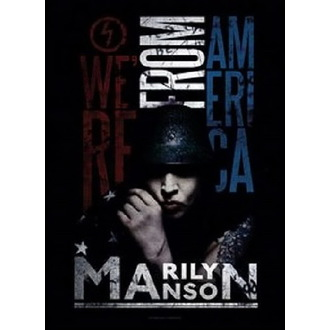 Flagge Marilyn Manson - American Graffiti, HEART ROCK, Marilyn Manson