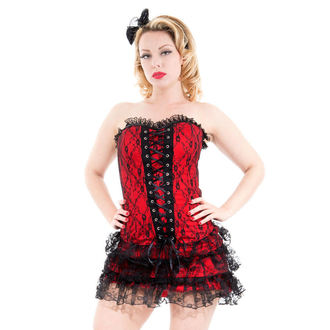 Frauenkleidung HEARTS AND ROSES - Red Moulin Rouge