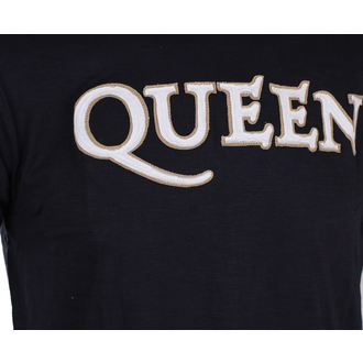 Herren T-Shirt Metal Queen - Logo & Crest - ROCK OFF, ROCK OFF, Queen