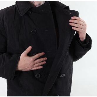 Herren Mantel ROTHCO - PEA COAT - BLACK