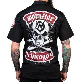 Herren Hemd WORNSTAR - Chicago Skull - Schwarz, WORNSTAR