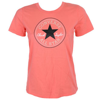 Damen T-Shirt Street - CORE SOLID CHUCK PATCH - CONVERSE, CONVERSE
