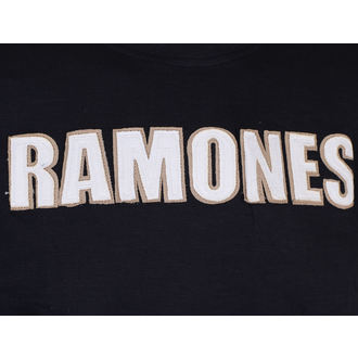 Herren T-Shirt Metal Ramones - Logo & Seal Applique Slub - ROCK OFF, ROCK OFF, Ramones