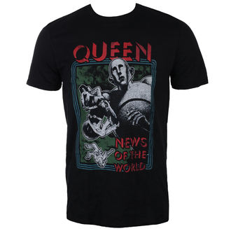Herren T-Shirt Metal Queen - News of the World - ROCK OFF, ROCK OFF, Queen