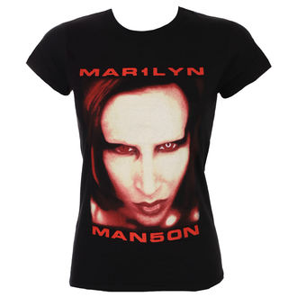 Damen T-Shirt Metal Marilyn Manson - Bigger Than Satan - ROCK OFF, ROCK OFF, Marilyn Manson