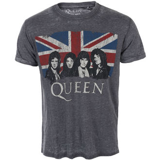 Herren T-Shirt Metal Queen - Vintage Union Jack - ROCK OFF, ROCK OFF, Queen