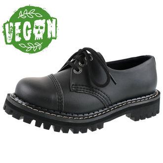 boty KMM 3dírkové - Vegan - Black, KMM