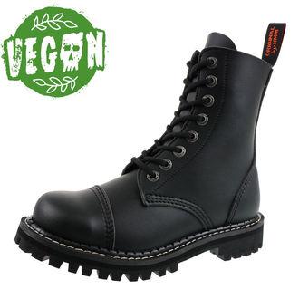 boty KMM 8dírkové - Vegan - Black, KMM