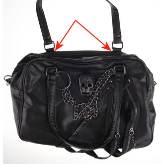 Handtasche QUEEN OF DARKNESS - Skulls - BESCHÄDIGT, QUEEN OF DARKNESS