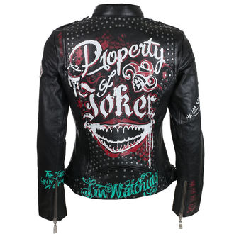 Damen Lederjacke Suicide Squad - Property of Joker -