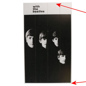 Holzbild The Beatles - A Hard Days Night - PYRAMID POSTERS - BESCHÄDIGT