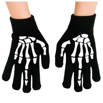 Handschuhe TOO FAST - UP YOURS SKELETON HAND MIDDLE, TOO FAST
