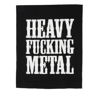 Aufnäher groß Heavy fucking metal