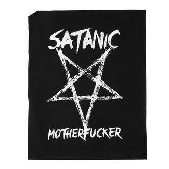 Aufnäher groß Satanic motherfucker