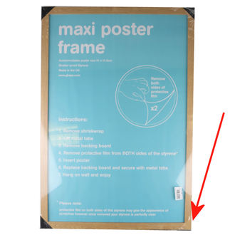 Rahmen Poster (61x91,5 cm) - Oak - GB Posters - BESCHÄDIGT, GB posters