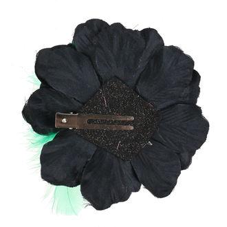 Haarspange Schädel - Schwarz / Grün