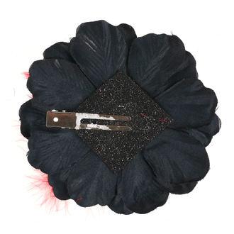 Haarspange Schädel - Schwarz / Rot Bogen