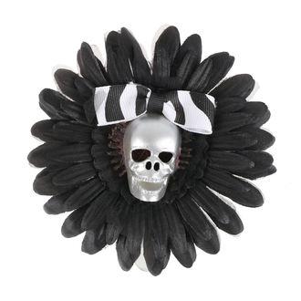 Haarspange Schädel - Schwarz / Silber