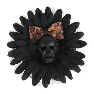 Haarspange Schädel - Schwarz / Braun Bogen