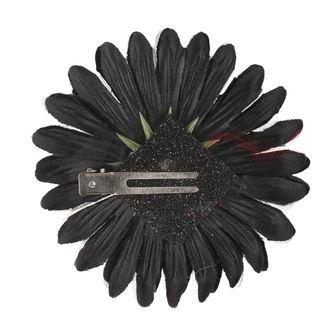Haarspange Schädel - Schwarz / Rosa Bogen