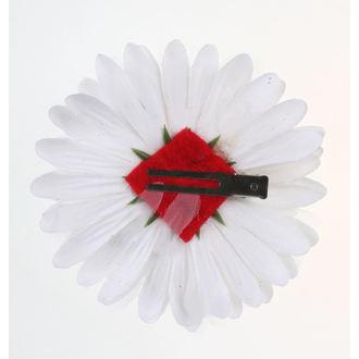 Haarspange Schädel - Weiß / Rot