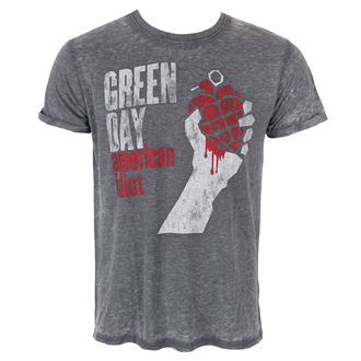 Herren T-Shirt Metal Green Day - American Idiot Vintage - ROCK OFF, ROCK OFF, Green Day