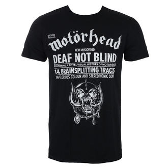 Herren T-Shirt Metal Motörhead - Deaf Not Blind - ROCK OFF, ROCK OFF, Motörhead