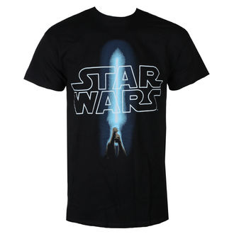 Herren T-Shirt Film Star Wars - LOGO & SABER - LIVE NATION, LIVE NATION