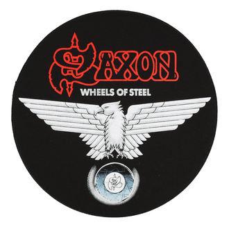 Aufnäher groß SAXON - WHEELS OF STEEL - RAZAMATAZ, RAZAMATAZ, Saxon