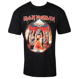 Herren T-Shirt Metal Iron Maiden - Powerslave Lightning Circle - ROCK OFF, ROCK OFF, Iron Maiden