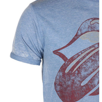 Herren T-Shirt Metal Rolling Stones - Mid Blue - ROCK OFF, ROCK OFF, Rolling Stones