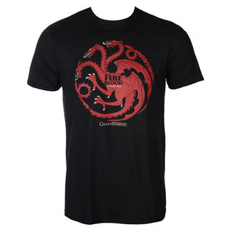 Herren T-Shirt Film Game of Thrones - FIRE AND BLOOD - PLASTIC HEAD, PLASTIC HEAD