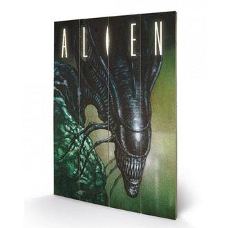 Holzbild Alien - (Creep) - PYRAMID POSTERS, PYRAMID POSTERS, Alien - Vetřelec
