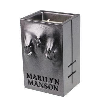 Kerze MARILYN MANSON - BLACK METALLIC - PLASTIC HEAD, PLASTIC HEAD, Marilyn Manson