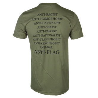 Herren T-Shirt Metal Anti-Flag - Flag Burner Green - KINGS ROAD, KINGS ROAD, Anti-Flag