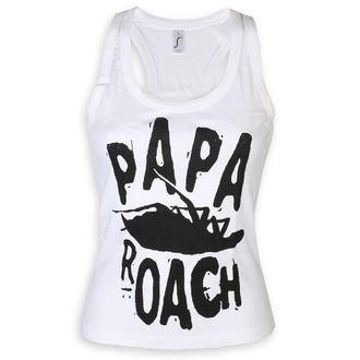 Damen Tanktop Papa Roach - Classic Logo - Weiß - KINGS ROAD, KINGS ROAD, Papa Roach