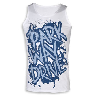 Herren Tanktop Parkway Drive - Blue Logo - Weiß - KINGS ROAD, KINGS ROAD, Parkway Drive