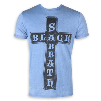Herren T-Shirt Metal Black Sabbath - Burnout Mid Blue - ROCK OFF, ROCK OFF, Black Sabbath