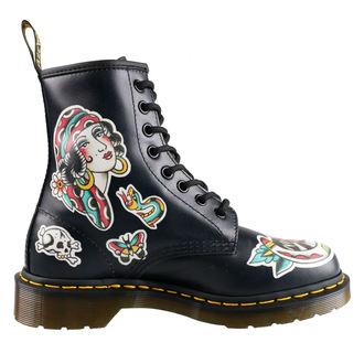 boty Dr. Martens - 8 dírkové - 1460 - Chris Lambert - Black/Multi, Dr. Martens
