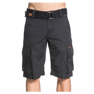 Herren Shorts AFFLICTION - Metal Split - BK, AFFLICTION
