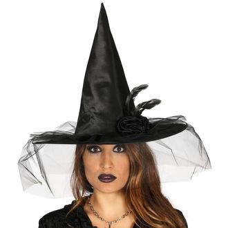 Halloween Hexenhut SCHWARZ HEXE BLUME