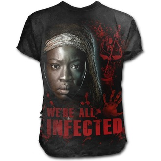Herren T-Shirt Film The Walking Dead - MICHONNE - SPIRAL, SPIRAL