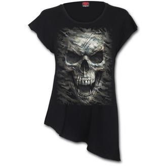 Damen T-Shirt Tunika - CAMO-SKULL - SPIRAL, SPIRAL