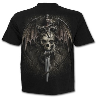 Herren T-Shirt - DRACO SKULL - SPIRAL, SPIRAL