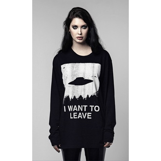 Unisex Longsleeve Hardcore  - I WANT TO LEAVE - DISTURBIA, DISTURBIA