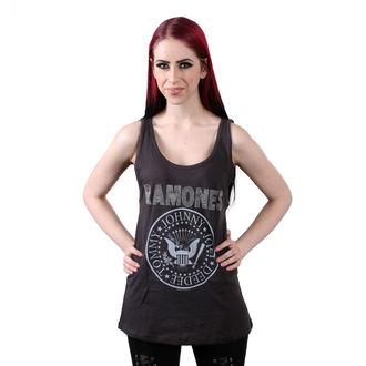 Damen Tanktop RAMONES - LOGO DIAMANTE SILVER - HOLZKOHLE - AMPLIFIED, AMPLIFIED, Ramones