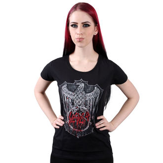 Damen T-Shirt Metal Slayer - Bloody Shield - ROCK OFF, ROCK OFF, Slayer