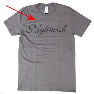 Herren T-Shirt Metal Nightwish BESCHÄDIGT - Logo GREY - NUCLEAR BLAST, NUCLEAR BLAST, Nightwish