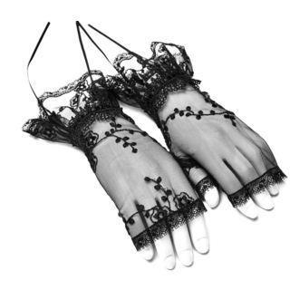 Fingerlose Handschuhe/ Handgelenkwärmer PUNK RAVE - Gothic Lily, PUNK RAVE