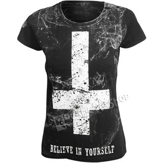 Damen T-Shirt Hardcore - BELIEVE IN YOURSELF - AMENOMEN, AMENOMEN